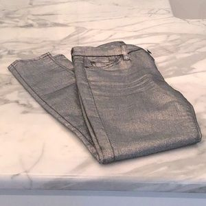 7 for all mankind metallic jeans